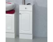 Badezimmer-Unterschrank in Hochglanz-Weiß lackiert