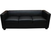 heute-wohnen 3er Sofa Couch Loungesofa Lille, Leder