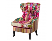 Ohrensessel Florale - Webstoff Patchwork, Jack and Alice