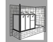 HSK Badewannenaufsatz Prima, Sondermaß (ohne Seitenwand)