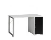 PC-Tisch in Weiß-Schwarz 120cm breit