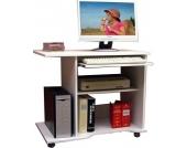 VCM VCM Computertisch ´´Officano´´ Weiss | PC Schreibtisch mit Rollen