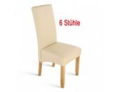 Cats Collection 6 Lederstühle Esszimmerstühle Küchenstühle Stühle creme 6er Set Stuhlset Setangebot