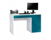 Computer-Schreibtisch Frontie - Alpinen Weiß/Petrol Hochglanz, Office Collection