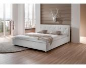 Futonbett aus Kunstleder (100% Polyurethan) Weiß