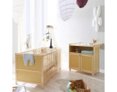 Babybett mit Wickelkommode Kinderset (2-teilig)