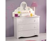 Mädchen Kommode in Weiß Mädchenzimmer