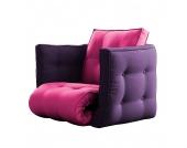 Schlafsessel Dice - Futon Pink/Aubergine, Karup