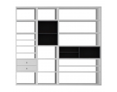 XL Regalwand Emporior I.A - Ohne Beleuchtung - Weiß / Schwarz, loftscape