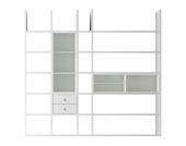 XL Regalwand Emporior III.B - Ohne Beleuchtung - Weiß, loftscape