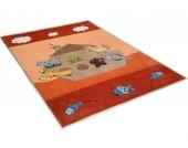 THEKO® Kinder-Teppich »Animals on Tour«, orange, 100x160 cm