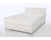 Schlafwelt Boxspringbett, weiß, 140/200 cm, 7-Zonen-Taschen-Federkernmatratze