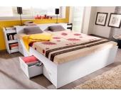 Schlafwelt Stauraumbett, weiß, 90/200 cm, ohne Rollrost und Matratze