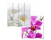 Paravent Somme aus 4 Panels - 180 x 160 cm - Orchidee, Mendler