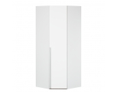 Eckschrank Melva - Polarweiß - BxH: 92,3 x 236 cm, Express Möbel