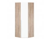 Eckschrank Melva - Eiche Sonoma Dekor/LackWeiß - BxH: 92,3 x 236 cm, Express Möbel