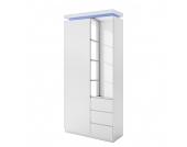 EEK A+, Garderobenschrank Emblaze (inkl. Beleuchtung) - Hochglanz Weiß, loftscape