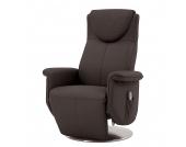 Massagesessel Colby - Echtleder - Einmotorige Verstellung - Braun, Nuovoform
