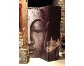 Raumteiler 3tlg Buddha I 2-seitig bedruckt