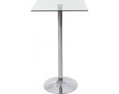 stabiler Stehtisch mit Glasplatte, 60 x 60 cm, Höhe 105 cm, ideal für die Gastronomie