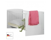Babybett Gina - Alpinweiß/Hochglanz Brombeer, Wimex