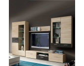 Schrankwand für Wohnzimmer Sonoma Eiche Braun (4-teilig)
