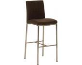 Edelstahl Barhocker FREEPORT mit Stoffbezug - aus bis zu 7 Farben wählen - Sitzhöhe 76 cm, Polsterstärke 5 cm, einfach bequem sitzen