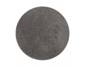 Shaggy Teppich Euphoria Rund - Silber - Ø 200 cm, Testil
