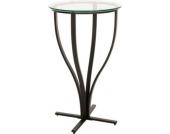 schwarzer Metall Stehtisch ROSARIO mit Glasplatte, sehr standfest, Durchmesser Ø 60 cm, Höhe 109 cm, ideal für die Gastronomie