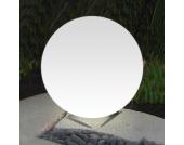 Ideale Kugelleuchte Snowball weiß Edelstahlfuß 60