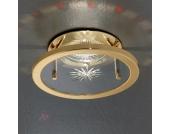 Halogen-NV Einbauleuchte UTA, gold rubin