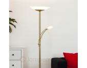 Schöner LED-Deckenfluter Minda in Altmessing