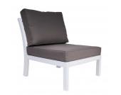 Garten Lounge Sessel Salottivo (3-teilig) - Weiß/Braun - Robinie Massivholz/Polster, Doncosmo