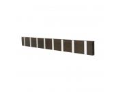 Garderobenleiste Knax 8 - Massivholz - Eiche Tabak/Silber, Loca