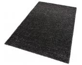 my home Hochflor-Teppich »Finn«, schwarz, 200x290 cm