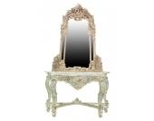 Kombi aus Spiegel und Tisch antik & aus Massivholz