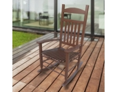 1PLUS Klassischer Schaukelstuhl aus Massivholz für den gemütlichen Komfort zuhause Sina Dunkelbraun