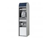 Büroschrank Dancer - Silber - Schwarz - Mit Kühlschrank, MS Schuon