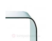 Glastisch Fontana mit abgerundeten Kanten