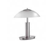 EEK A+, Tischleuchte Novaro - 2-flammig - mit Kippschalter - Stahl/Glas - nick matt/weiß, Paul Neuhaus