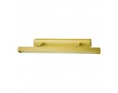 EEK A+, Wandleuchte Penta - Gold matt gebürstet/LED warmweiß, Busch Leuchten