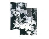 Raumteiler in Schwarz Weiß