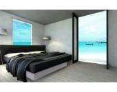 Ocean Mono Wasserbett, 140 x 200 cm, weiß, F5
