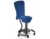 Bürostuhl / Rollhocker SWOPPER WORK CLASSIC royal-blau mit Lehne u. SPEED-Rollen