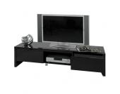 TV Lowboard in Schwarz 160 cm breit