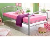 Schlafwelt Metallbett, silberfarben, ohne Matratze