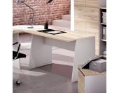 Computertisch in Weiß-Eichefarben 120 cm breit