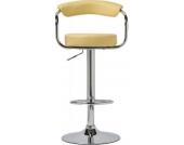 Barhocker ITALIA mit Lehne, rund, höhenverstellbar 67 - 85 cm, bis zu 13 Farben wählbar, Sitzfläche 360° drehbar