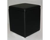 Rohrschneider Sitzhocker in Kunstleder, schwarz
